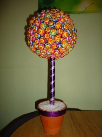 Lolly Trees Some Handy Instructions The Purple Stripes Add A Fun Park Feel To Them