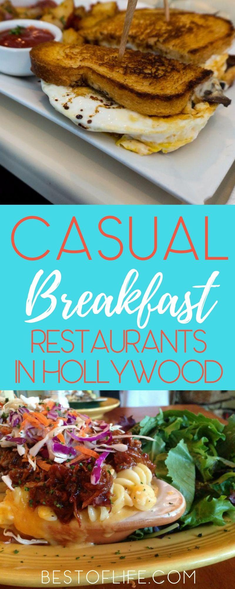 5 Casual Breakfast Restaurants In Hollywood California