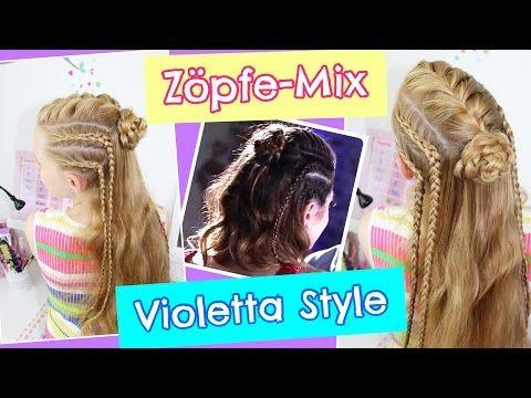 Zöpfe Mixvioletta Style Sommerfrisurcoole Mädchen