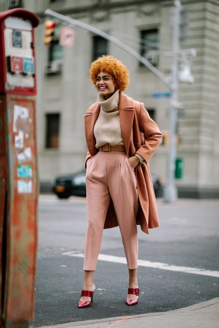 The Street Style Crowd Wore Brown and Beige on Day 1 of New York Fashion Week #trendystreetstyle