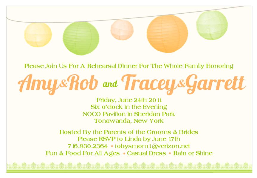 Picnic Themed Wedding Invitations