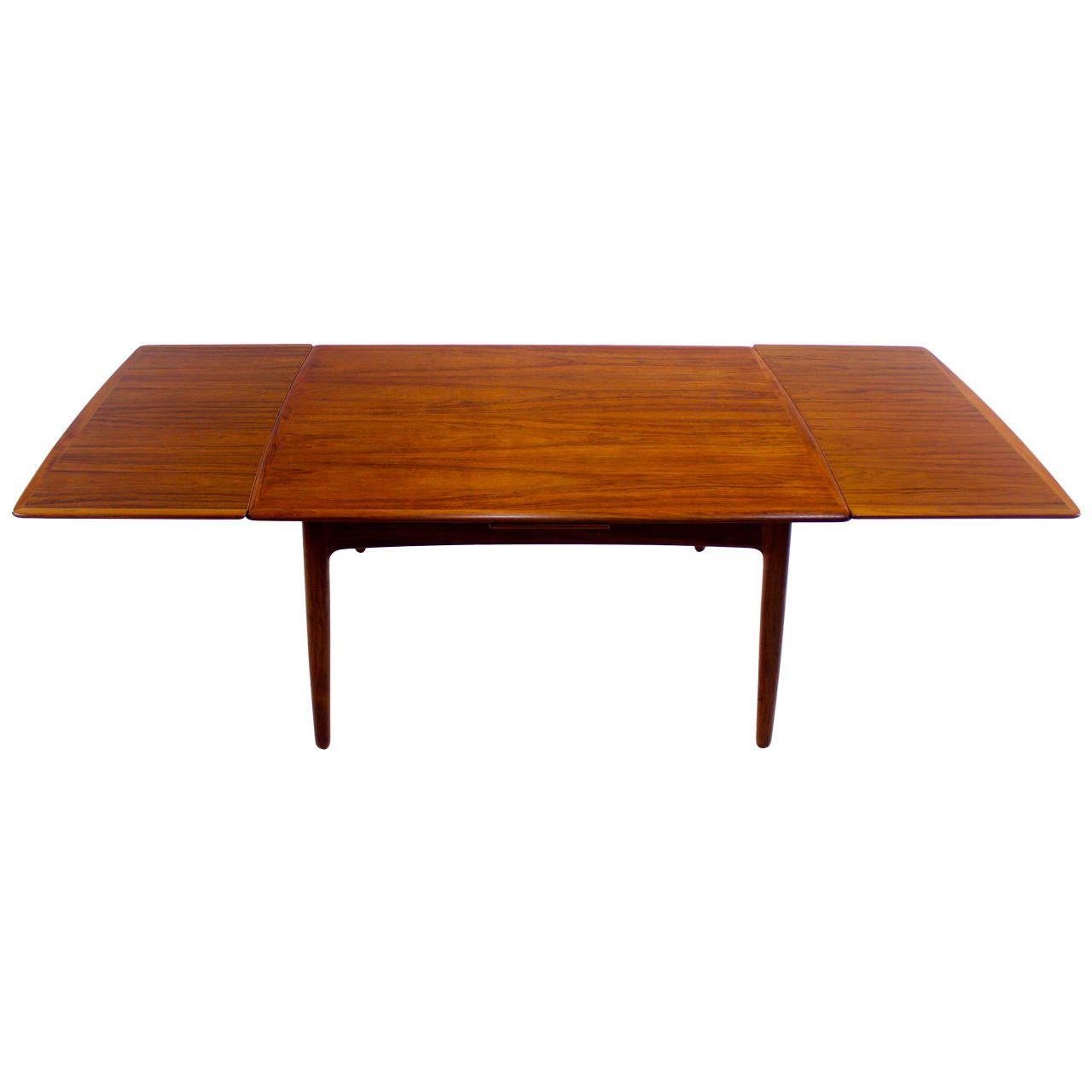 Extra Deep Danish Modern Drawleaf Dining Table Designedsvend Delectable Danish Modern Dining Room Design Ideas