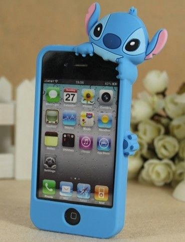 Face Down Stitch Silicone Case Cover for iPhone 4 4S | Coque ...