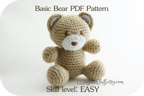 Basic Bear PDF Pattern amigurumi Teddy Bear by OStuffandFluff ...