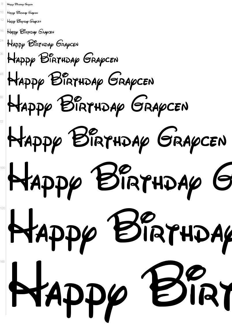 Free Fonts - Walt Disney font | UrbanFonts.com | Disney ...