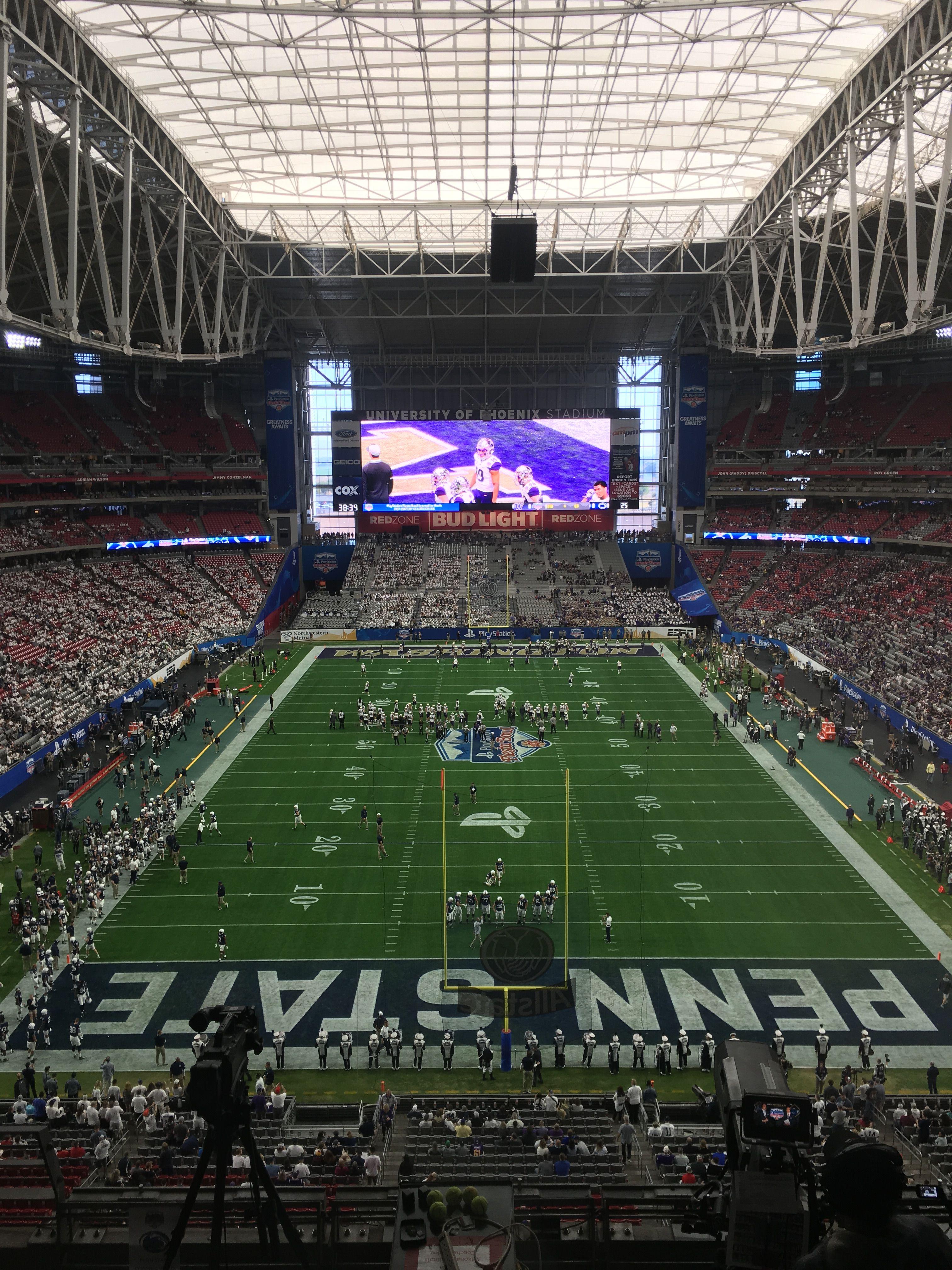2017 Fiesta Bowl Penn State Vs Washington In Glendale Az Glendale Soccer Field Penn State