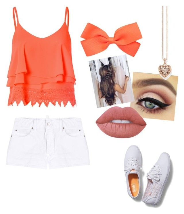 """""""Cute Summer/Spring Outfit"""" by soreakelley on Polyvore featuring Glamorous, Dsquared2, Keds, Lime Crime and Thomas Sabo"""