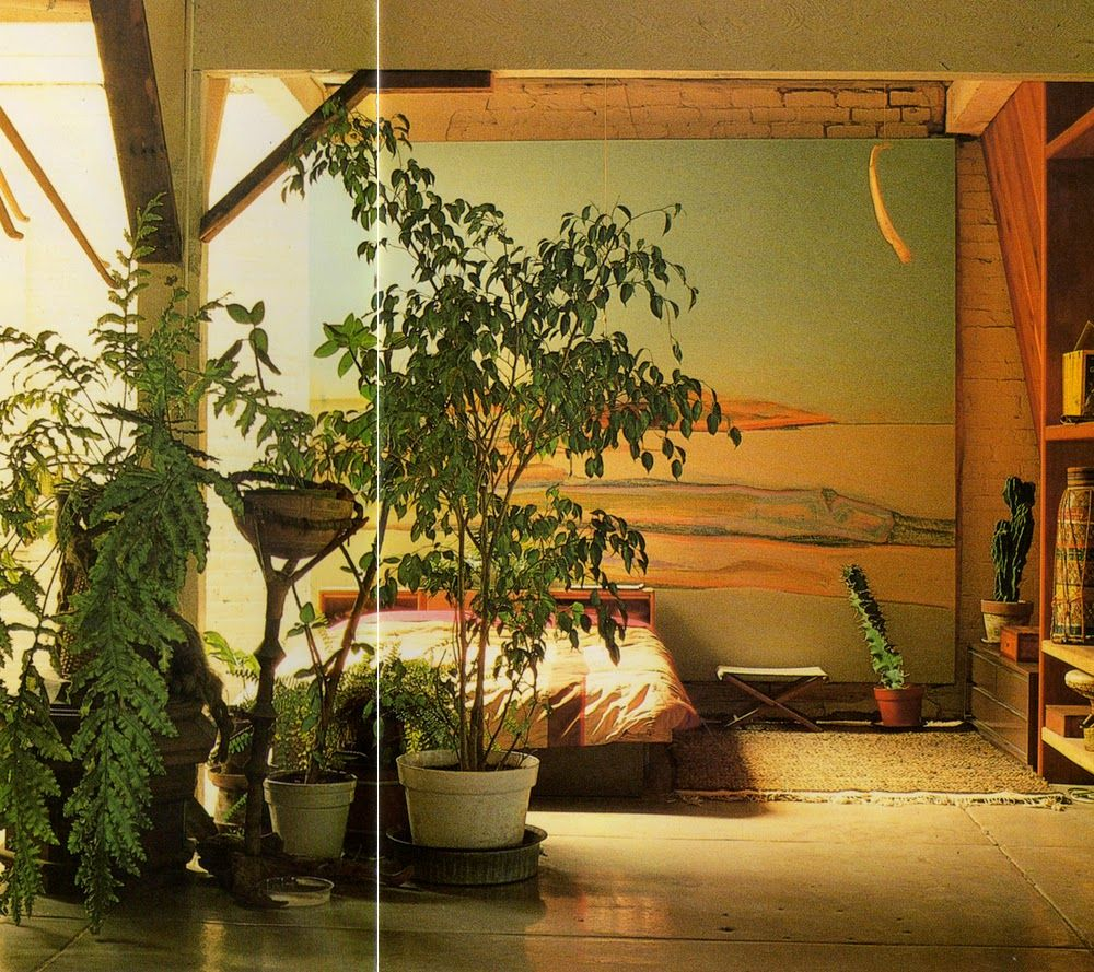 Terence conran decorating wth plants bohemian for Bedsitter interior design