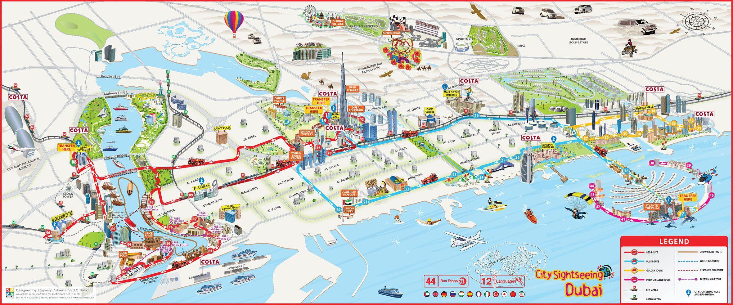 Image result for dubai map   dubai   Dubai tourist