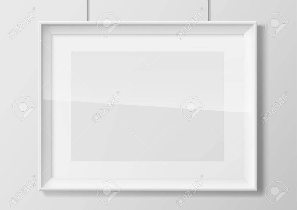 Horizontal White Thin Photo Frame With Transparent Glass Frame Photo Frame Frame Horizontal