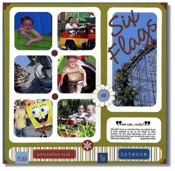 Six Flags Scrapbook Trends Vacation Idea Book Scrapbook Trends Vacation Scrapbook Scrapbook