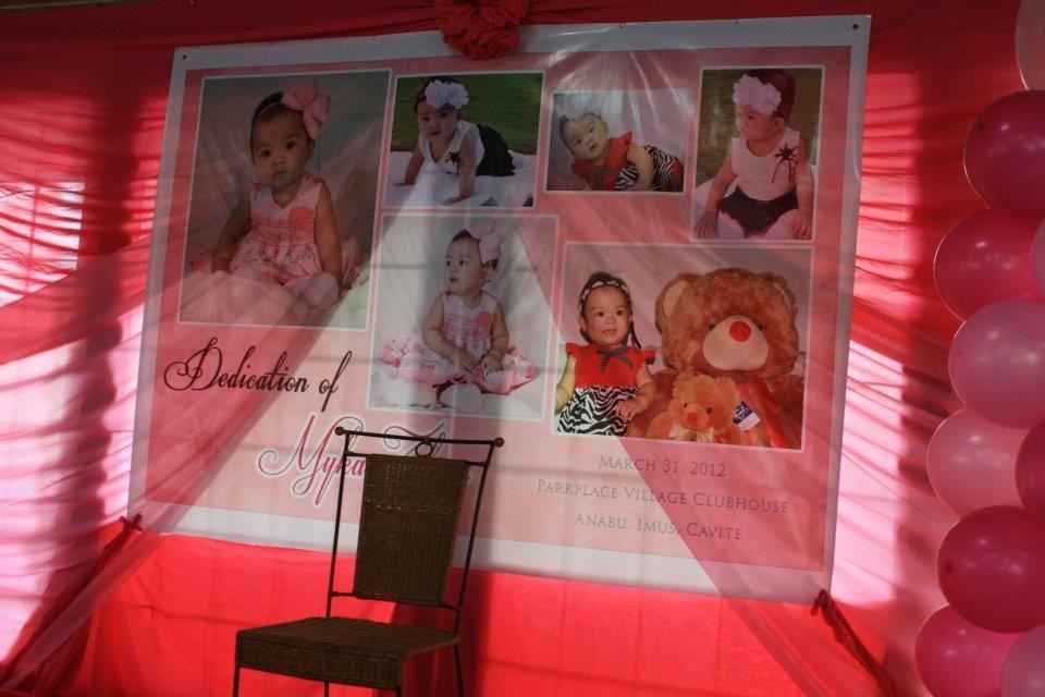 Baby S Dedication Tarpaulin Background DIY Invitations Pinterest