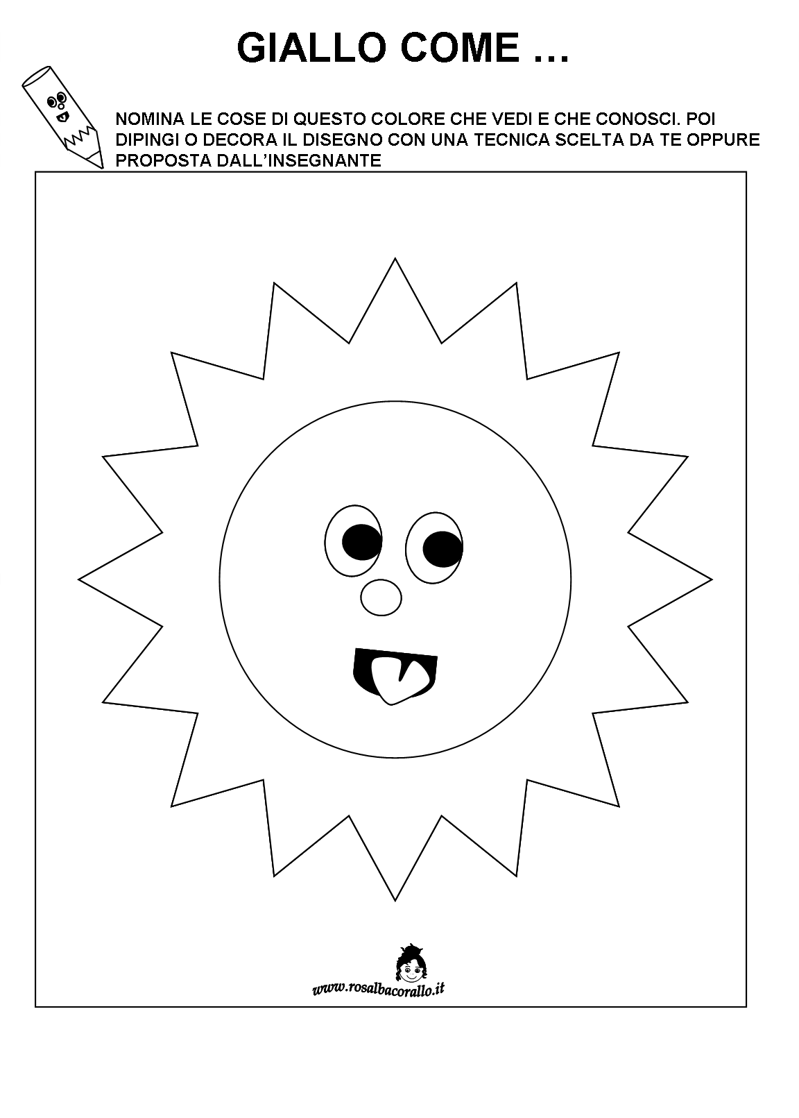 Scheda didattica 1152 1611 colori pinterest for Schede didattiche scuola infanzia 3 anni