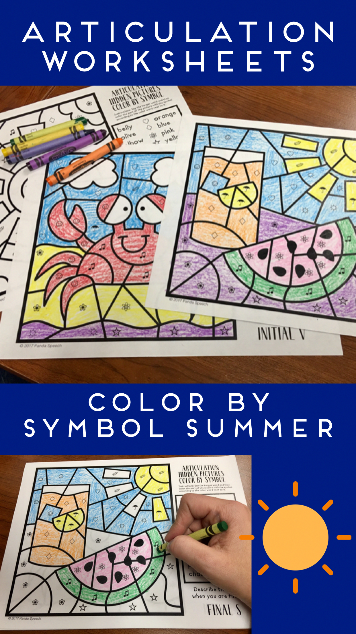 Summer Articulation Color By Symbol Hidden Images A