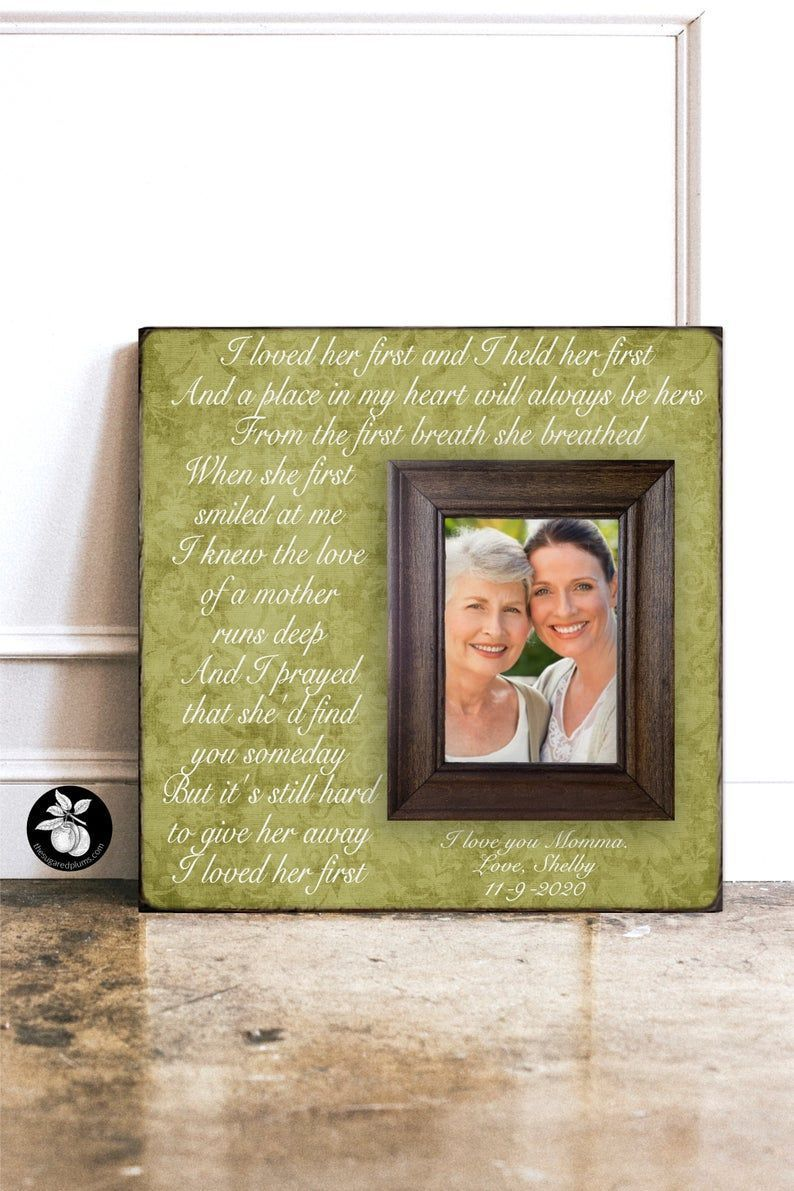 Mother Daughter Gift Photo Frame Originals Wedding Gift for Mom Mother of the Bride from Daughter Bride