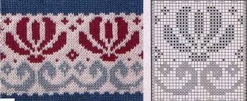 Вязание орнаментов с цветами 37