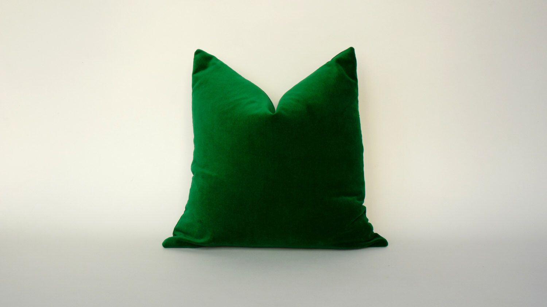 Emerald green velvet pillow emerald green velvet cushion green
