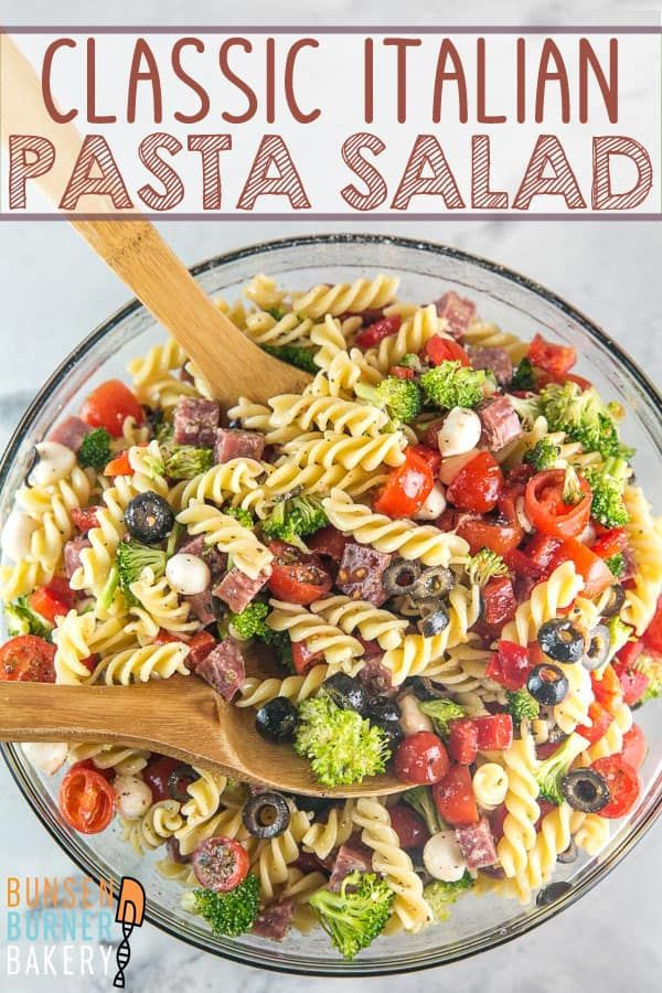 classic italian pasta salad  recipe  pasta salad italian