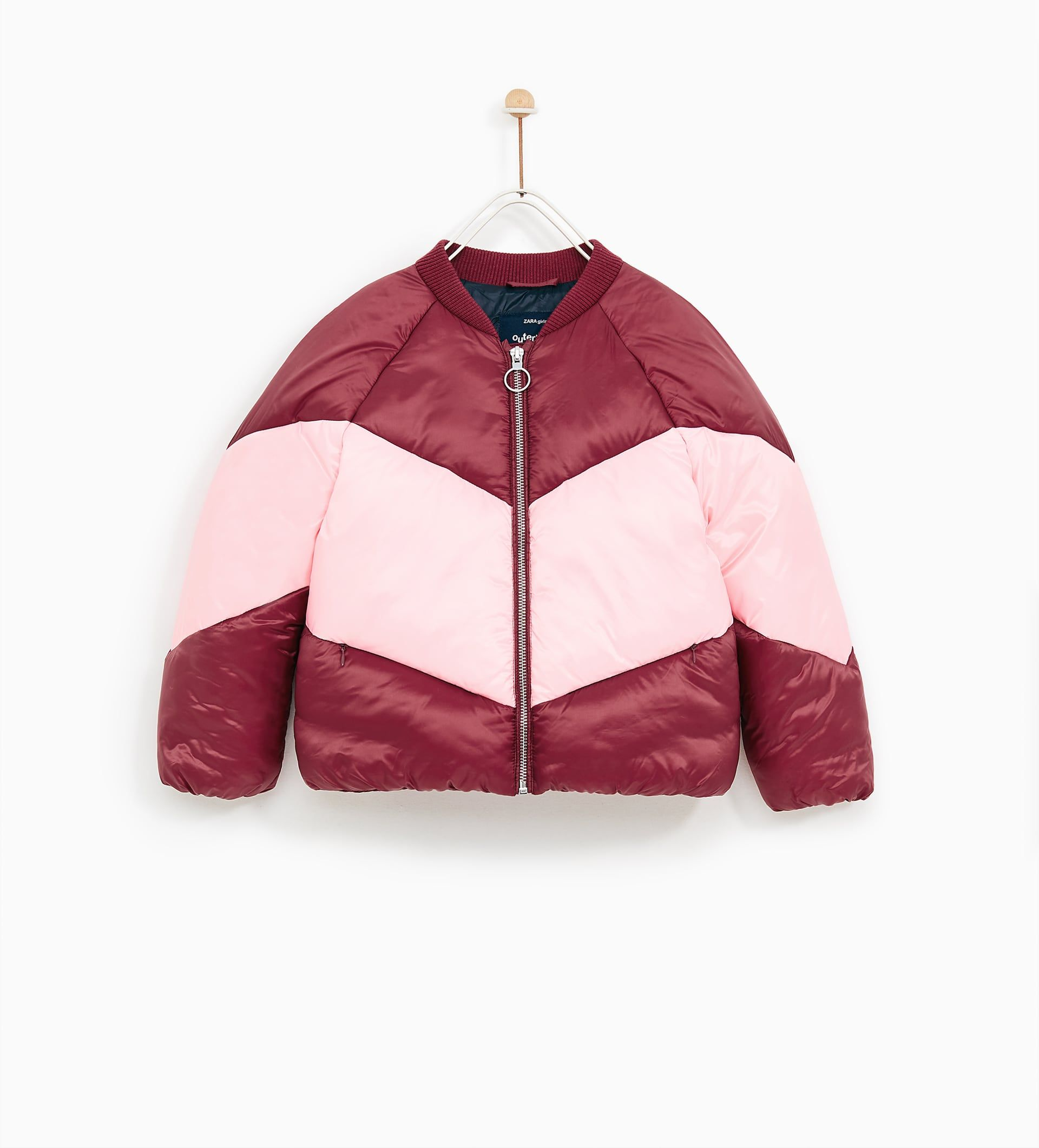 bf7f2989c TWO-TONE QUILTED BOMBER JACKET from Zara | Girls | Kids fashion ...