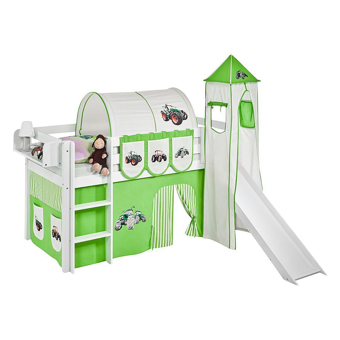 Kinderhochbett mit rutsche maße  Hochbett mit Rutsche weiß HELLO KITTY LILA - JELLE #hochbett ...