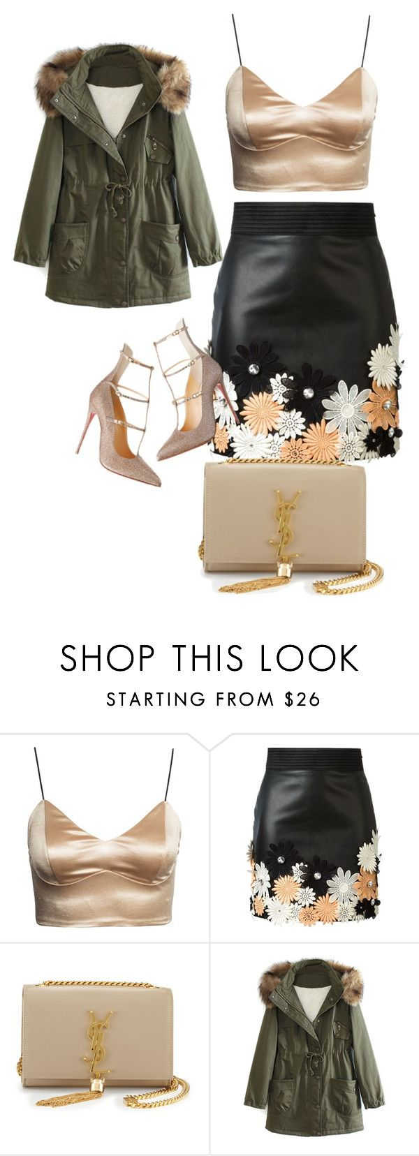 """fashion"" by hajus09 on Polyvore featuring Emanuel Ungaro, Yves Saint Laurent and WithChic"