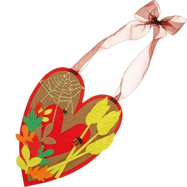 Harvest Craft Ideas For Kids Part - 30: Harvest Festival Heart Wreath
