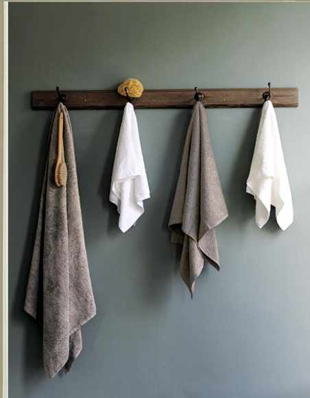 I Think I Like The Idea Of Hooks For Towels In The Bathroom Rather Than A
