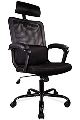 Ergonomic Office Chair Mesh Office Chair Desk Office Chair Computer Task Chair Adjustable Headrest Black Ergonomic Office Chair Mesh Office Chair Desk Offic