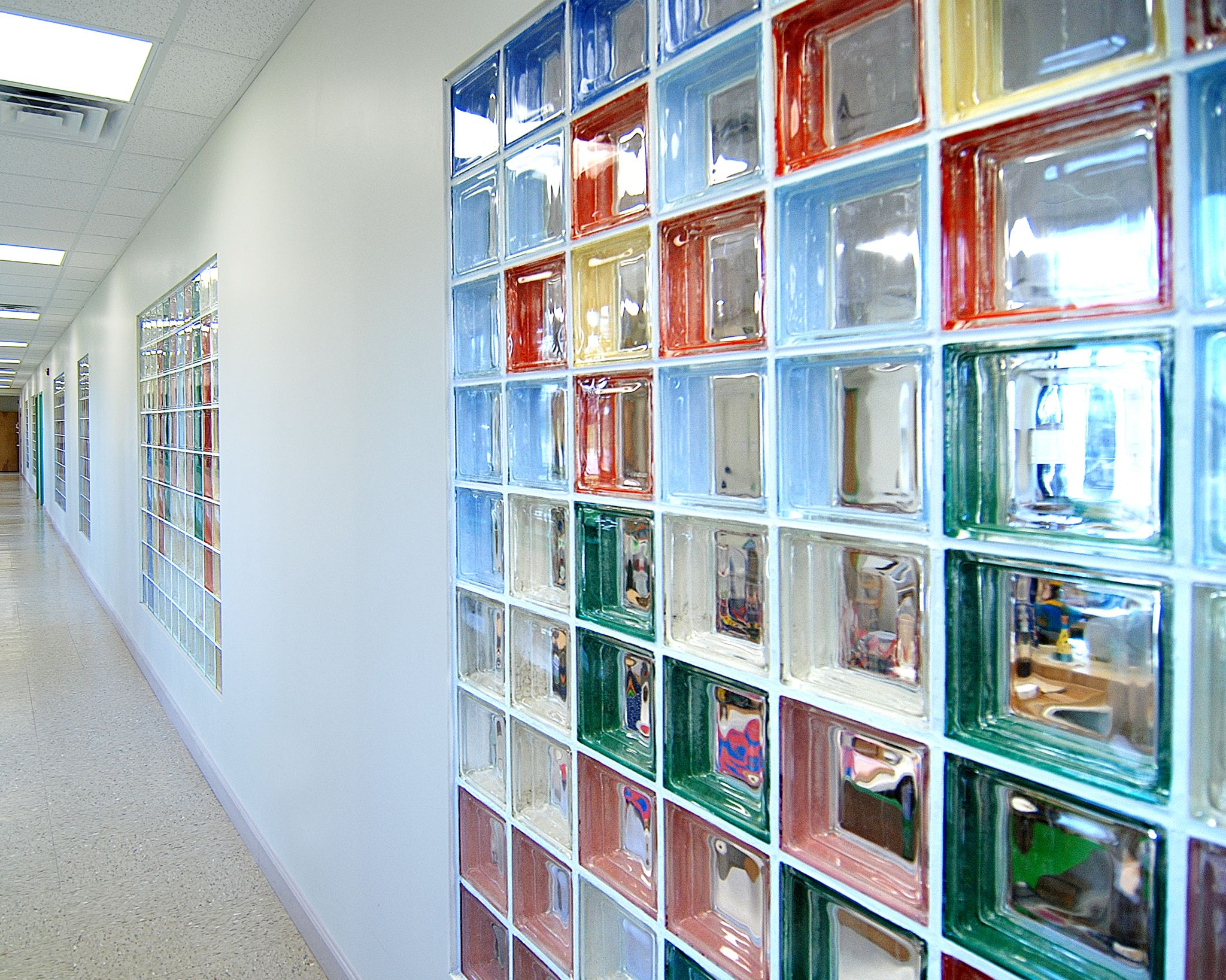 Colored Glass Blocks Wall Partition Glass Blocks Wall Colored