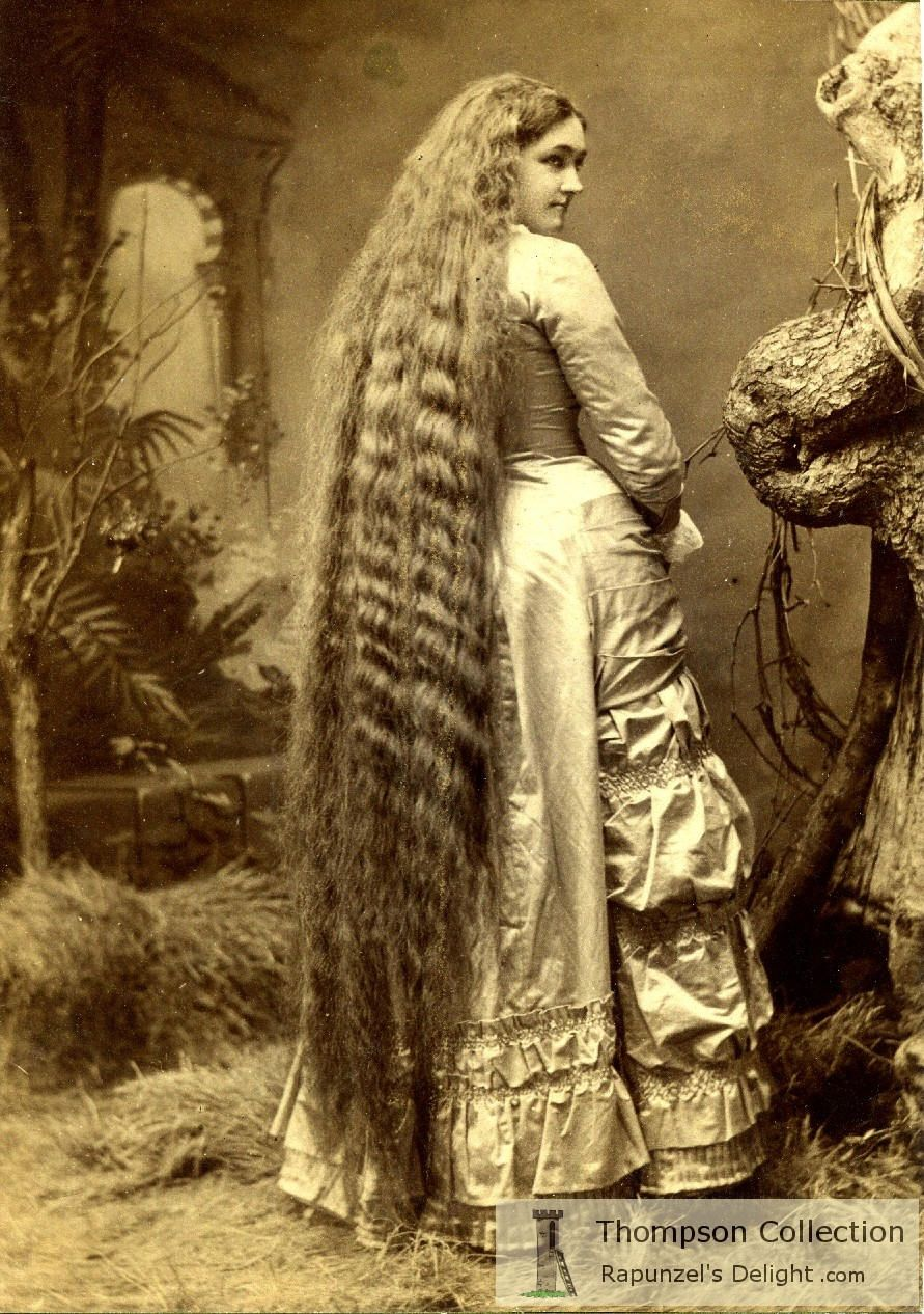 1870s floor-length hair vintage