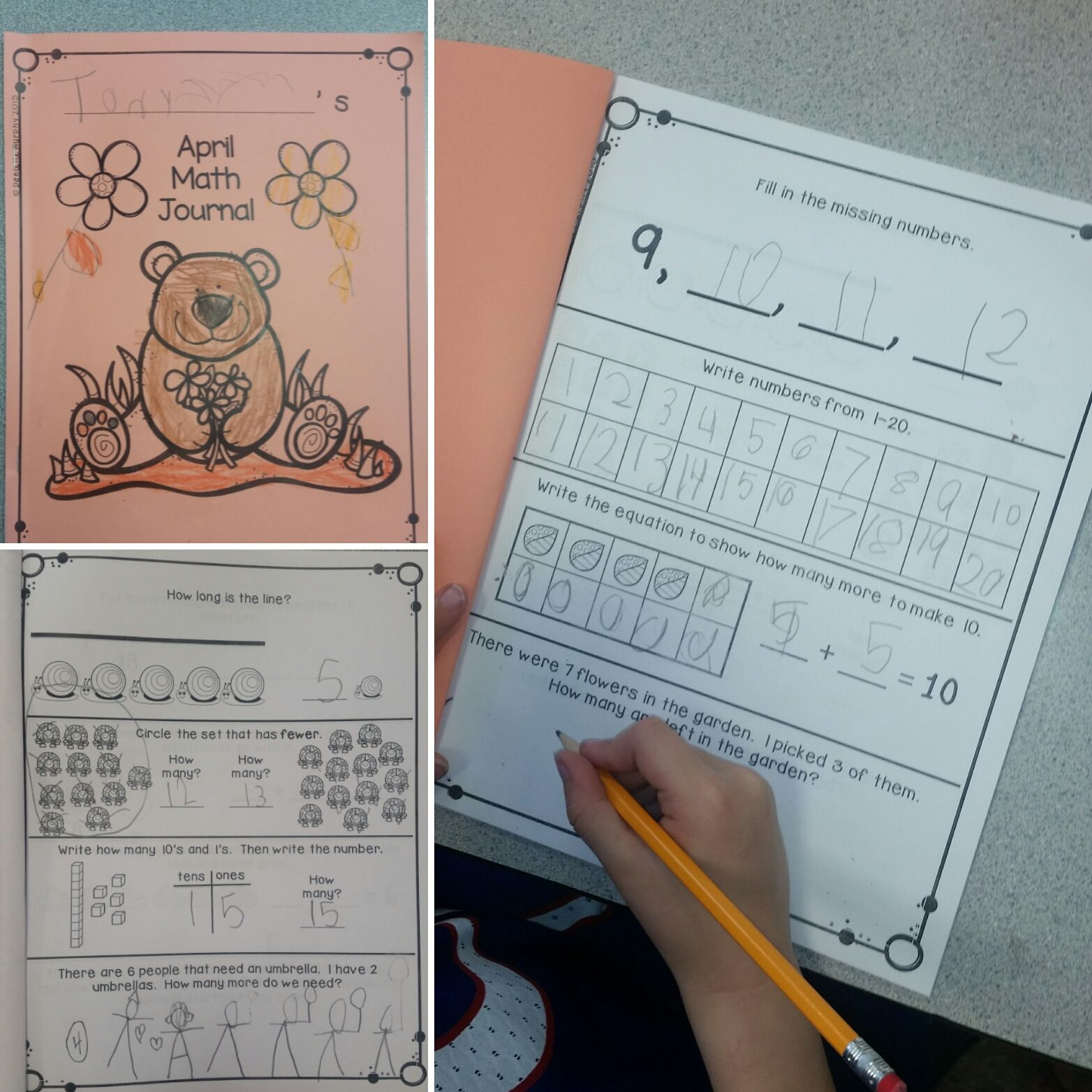 Distance Learning April Kindergarten Daily Spiral Review