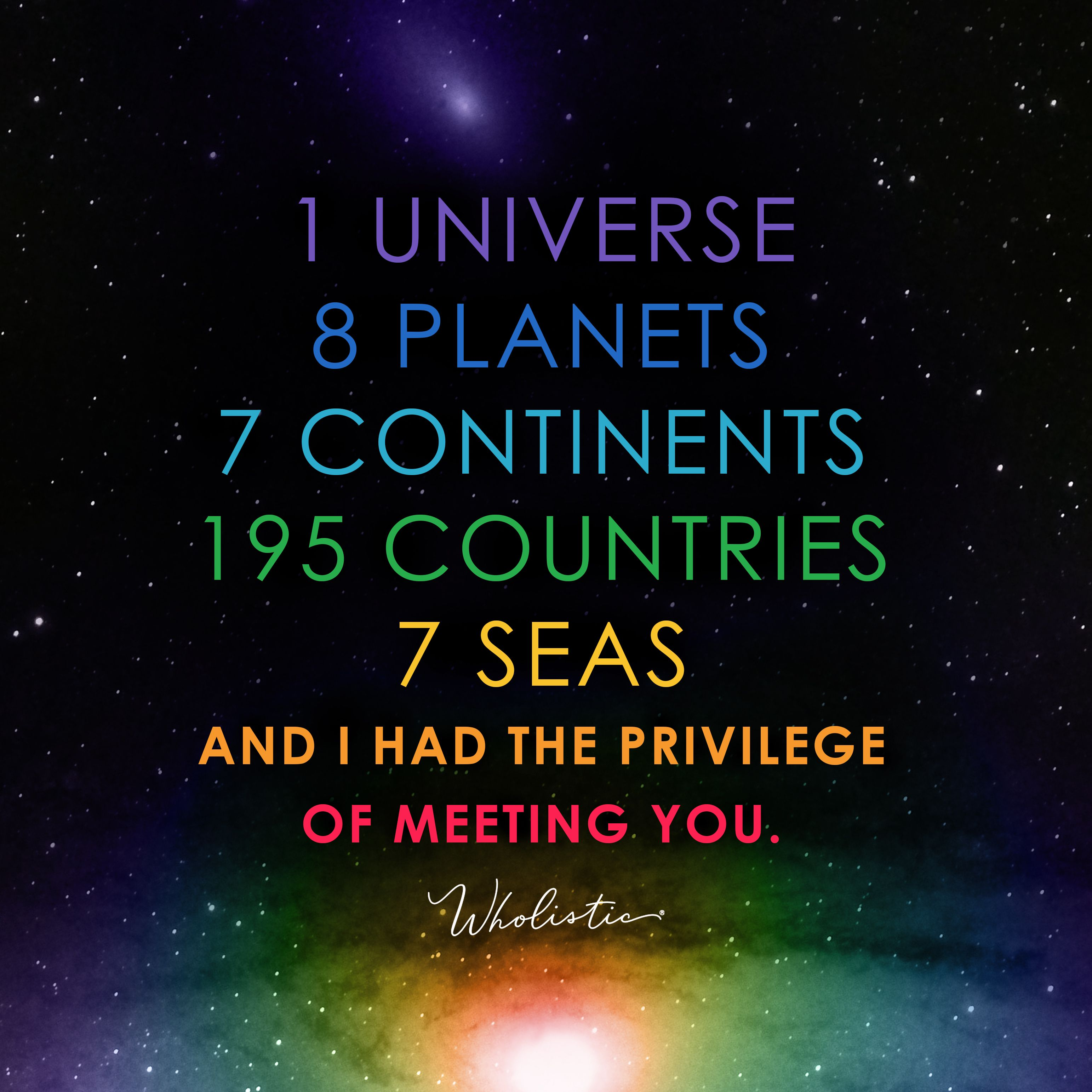 Quote 1 Universe 8 Planets 7 Continents 195 Countries 7 Seas