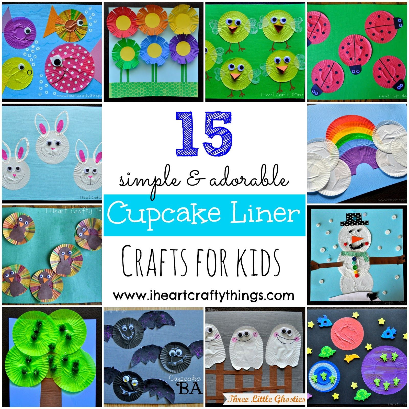 15 Cupcake Liner Crafts for Kids from I Heart Crafty Things