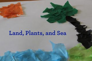 I Did It - You Do It: Land, Plants and Sea! | Fun Bible Crafts