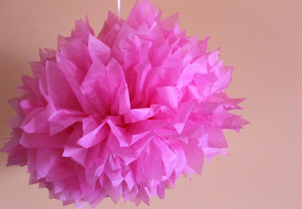 DIY tissue paper ball