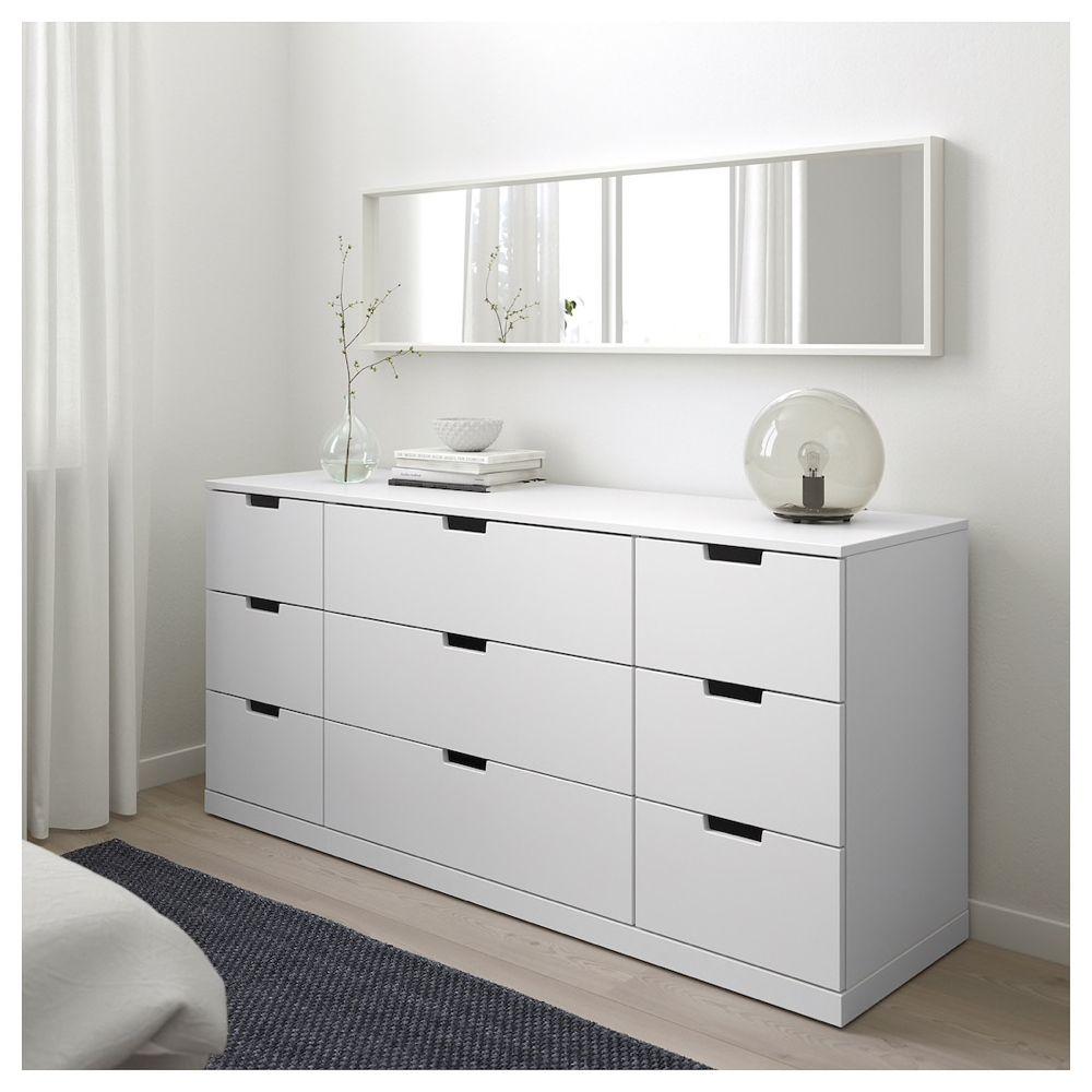 IKEA NORDLI White 9-drawer Chest