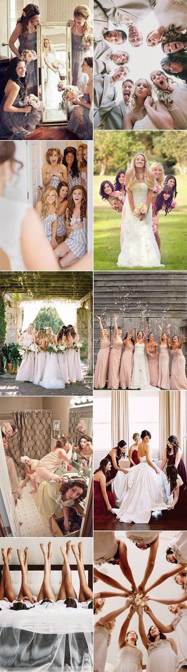Idées créatives de photo de mariage avec les demoiselles d'honneur: vous garderez toujours la photo … – Idées de mariage