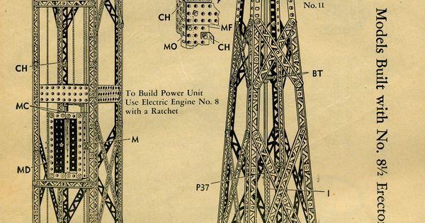 Image Result For Erector Set How To Instructions Erector Set