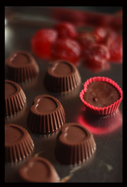 chocolates with dried strawberries