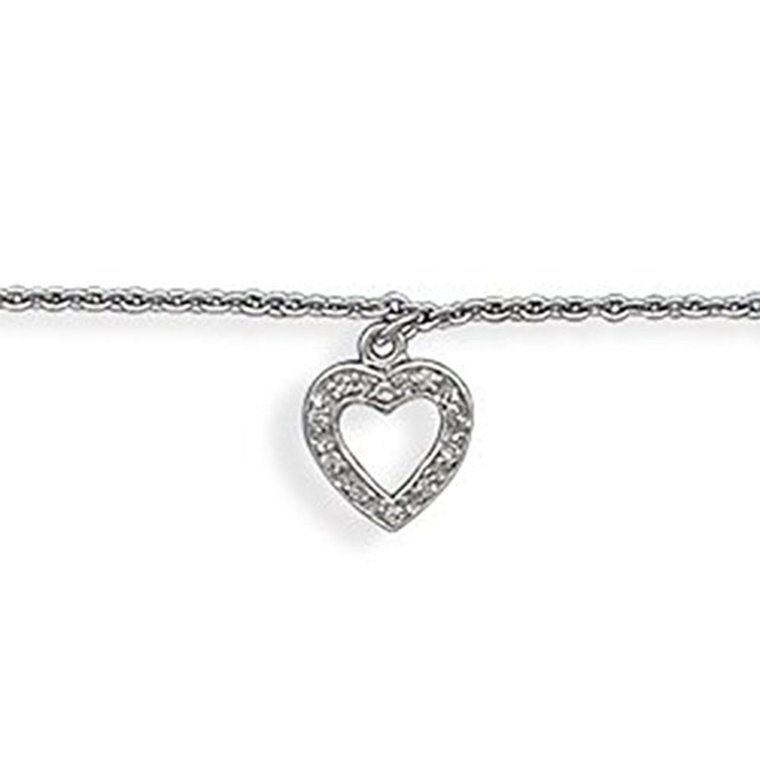 heart sterling the pin yard zirconia plated by cz silver cubic open anklet rhodium charm