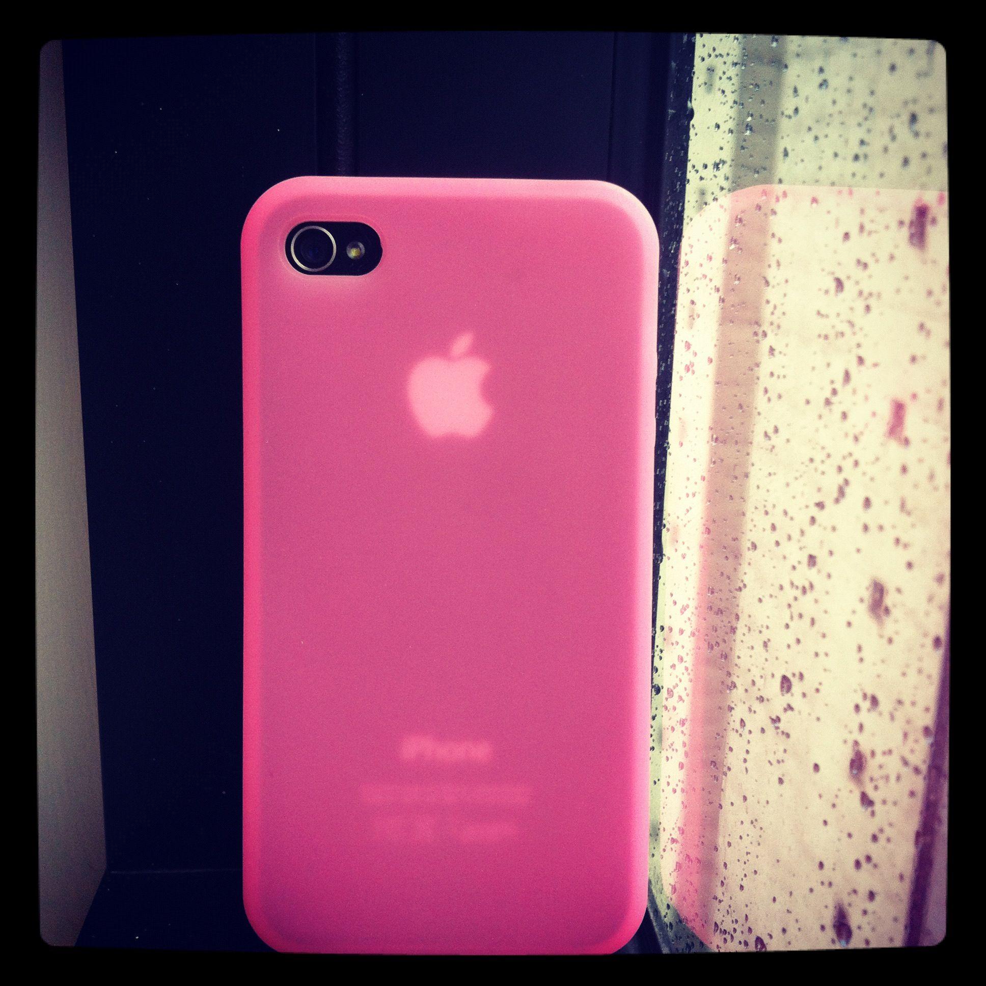 Capa de Silicone Rosa Translúcida para iPhone 4/4S