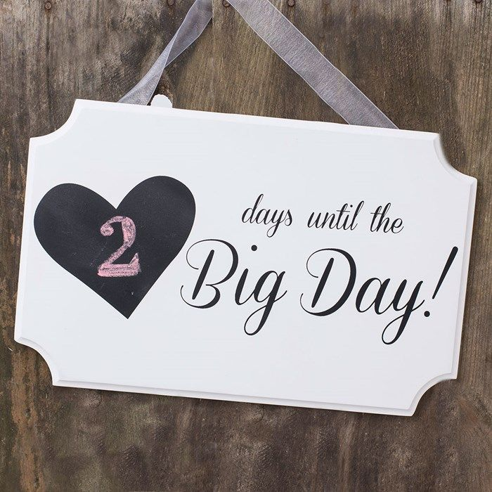fa1b73d0a431c Wedding Date Plaque - Days Until The Big Day
