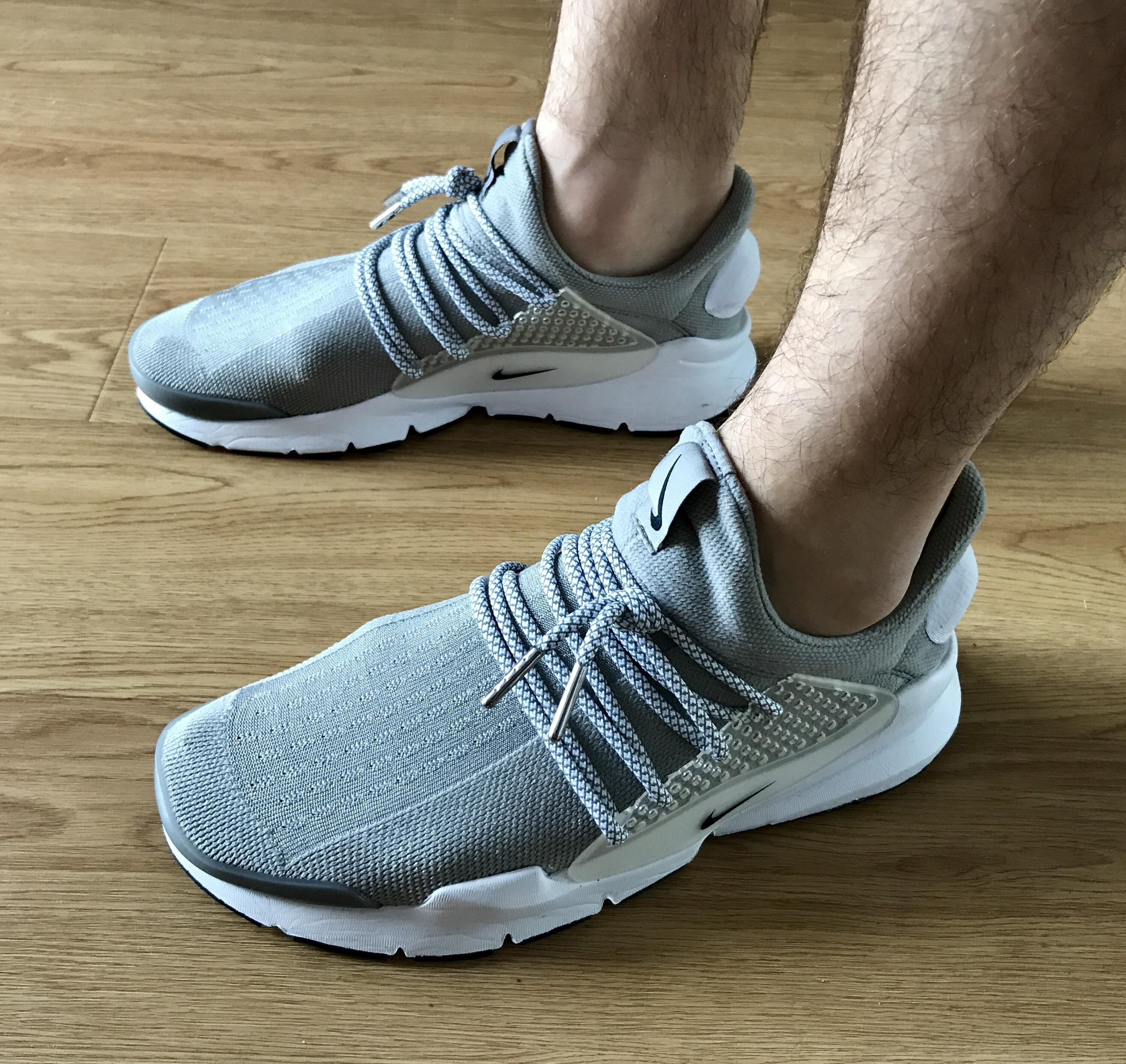Finally Decided To Give The Sock Dart Lace Mod A Try Fairly Happy With The Results Chaussure Chaussures Homme