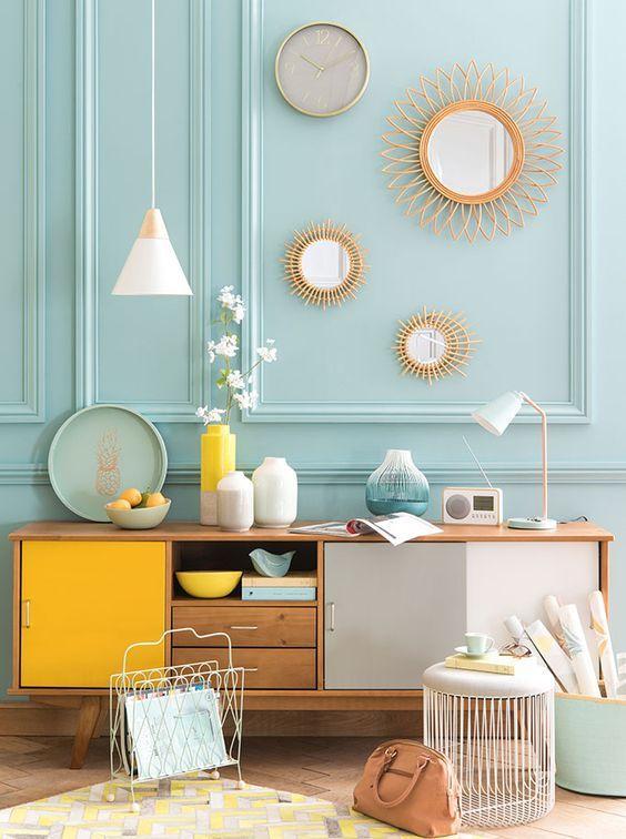 Deco // La tendance Mint&Lemon   Soggiorno   Pinterest   Salons ...