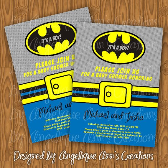 Batman Baby Shower Invitations DIY Printable By Jayarmada2 On Etsy, $10.99