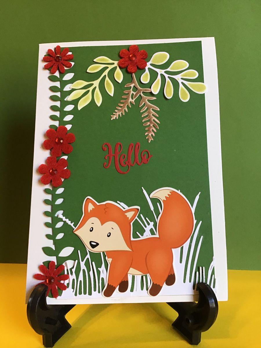 Handmade Hello Blank Card