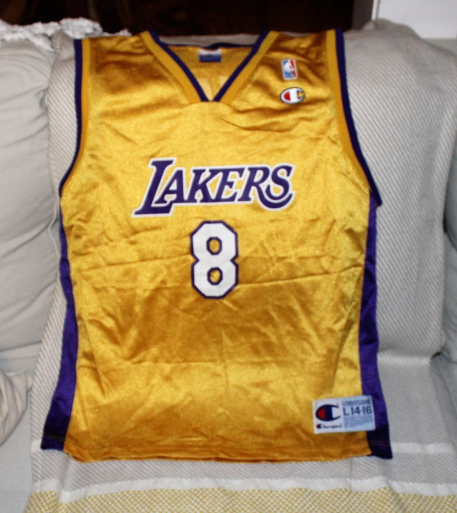 Vintage Champion L A Lakers Kobe Bryant Jersey Kids L 14 16 Champion Lakers Lakers Kobe Bryant Lakers Kobe Kobe Bryant