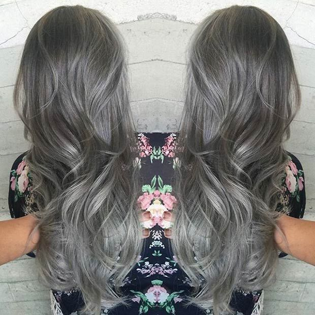21 stunning grey hair color ideas and styles hairstyles pinterest haarfarben ideen. Black Bedroom Furniture Sets. Home Design Ideas