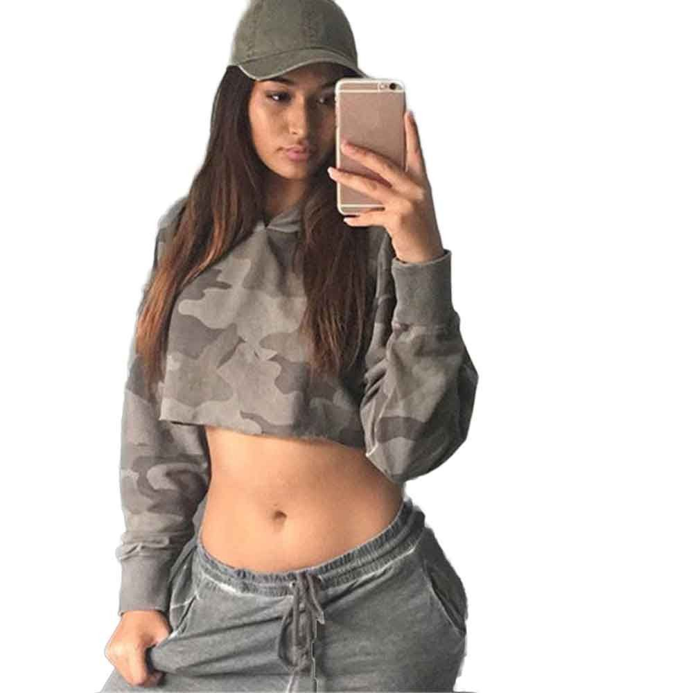 0c159d74980 ... #apparel, #shoes #aliexpress, #Women, #Fashion, #Camouflage, #Hooded, # Sweatshirt, #Jumper, #Fashion, #Autumn, #Loose, #Short, #Hoodie, #Pullover,  ...