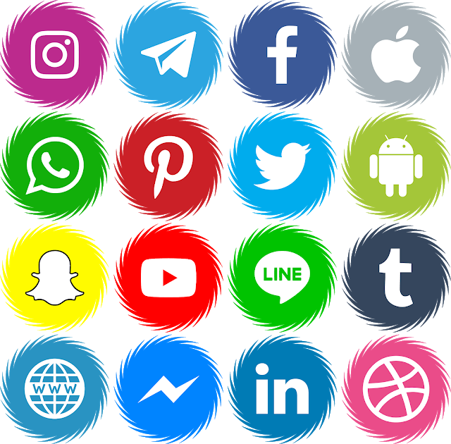 Download Font Icons Social Media 15 Color ttf otf Icones